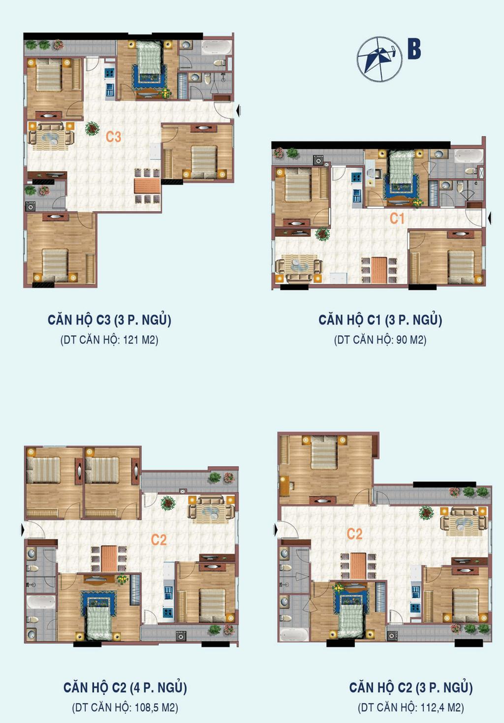 căn hộ c1,c2,c3 chung cư liễu giai tower