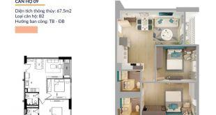 Thiết kế căn 2 Phòng ngủ tại dự án Athena Complex Pháp Vân